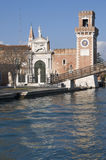 Βενετία, Ιταλία: Είσοδος Arsenale Στοκ Εικόνα