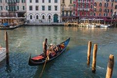 Βενετία, Ιταλία, στις 14 Φεβρουαρίου 2017 Πόλη της Βενετίας της Ιταλίας Άποψη σχετικά με το μεγάλο κανάλι, ενετικό τοπίο με τις β Στοκ φωτογραφία με δικαίωμα ελεύθερης χρήσης