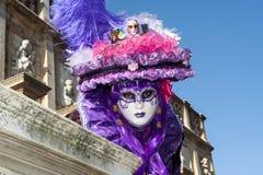 Βενετία, Ιταλία - 6 Φεβρουαρίου 2018 - οι μάσκες καρναβαλιού 2018 Στοκ Φωτογραφία