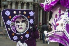 Βενετία, Ιταλία - 7 Φεβρουαρίου 2018 - οι μάσκες καρναβαλιού 2018 Στοκ φωτογραφίες με δικαίωμα ελεύθερης χρήσης
