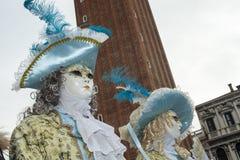 Βενετία, Ιταλία - 7 Φεβρουαρίου 2018 - οι μάσκες καρναβαλιού 2018 Στοκ εικόνα με δικαίωμα ελεύθερης χρήσης