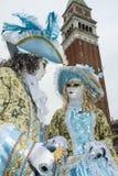 Βενετία, Ιταλία - 7 Φεβρουαρίου 2018 - οι μάσκες καρναβαλιού 2018 Στοκ Φωτογραφίες