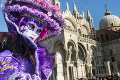 Βενετία, Ιταλία - 6 Φεβρουαρίου 2018 - οι μάσκες καρναβαλιού 2018 Στοκ φωτογραφίες με δικαίωμα ελεύθερης χρήσης