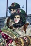 Βενετία, Ιταλία - 6 Φεβρουαρίου 2018 - οι μάσκες καρναβαλιού 2018 Στοκ Εικόνα