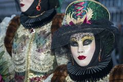 Βενετία, Ιταλία - 6 Φεβρουαρίου 2018 - οι μάσκες καρναβαλιού 2018 Στοκ εικόνες με δικαίωμα ελεύθερης χρήσης