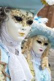 Βενετία, Ιταλία - 7 Φεβρουαρίου 2018 - οι μάσκες καρναβαλιού 2018 Στοκ Φωτογραφία