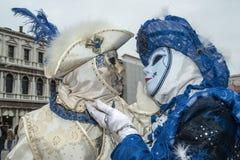 Βενετία, Ιταλία - 7 Φεβρουαρίου 2018 - οι μάσκες καρναβαλιού 2018 Στοκ εικόνες με δικαίωμα ελεύθερης χρήσης