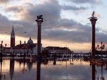 Βενετία, Ιταλία, ηλιοβασίλεμα Στοκ Εικόνες