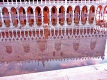 Βενετία, Ιταλία, ηλιοβασίλεμα, Doges παλάτι Στοκ Εικόνες