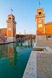 Βενετία Ιταλία Arsenale Στοκ εικόνα με δικαίωμα ελεύθερης χρήσης