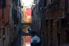 Βενετία και το φεστιβάλ κινηματογράφων, τα chanels Στοκ Φωτογραφία
