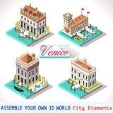 Βενετία 01 κεραμίδια Isometric Στοκ Φωτογραφίες