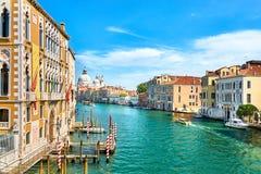 Βενετία - μεγάλος χαιρετισμός della της Σάντα Μαρία καναλιών και βασιλικών Στοκ φωτογραφίες με δικαίωμα ελεύθερης χρήσης