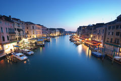 Βενετία - μεγάλο κανάλι Στοκ εικόνα με δικαίωμα ελεύθερης χρήσης