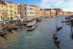 Βενετία, μεγάλη άποψη καναλιών Στοκ Εικόνες