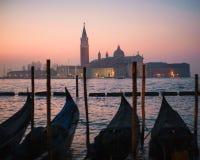 Βενετία με τις γόνδολες στο μεγάλο κανάλι Στοκ εικόνα με δικαίωμα ελεύθερης χρήσης