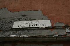 Βενετία, πιάτο οδών στοκ εικόνες με δικαίωμα ελεύθερης χρήσης