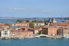 Βενετία που αντιμετωπίζεται από το SAN Giorgio Maggiore Στοκ εικόνες με δικαίωμα ελεύθερης χρήσης