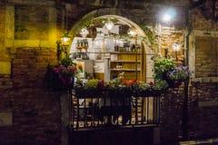 Βενετία στην Ιταλία τη νύχτα Στοκ φωτογραφία με δικαίωμα ελεύθερης χρήσης