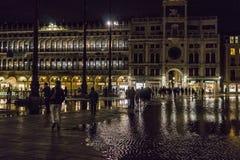 Βενετία στην Ιταλία τη νύχτα Στοκ εικόνες με δικαίωμα ελεύθερης χρήσης