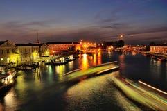 Βενετία το μεγάλο κανάλι Στοκ Φωτογραφίες