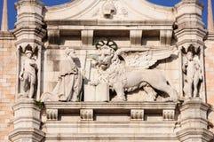 Βενετία Φτερωτό λιοντάρι του σημαδιού του ST - σύμβολο της Βενετίας Στοκ εικόνες με δικαίωμα ελεύθερης χρήσης