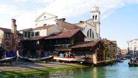 Βενετία boatyard Στοκ Εικόνα