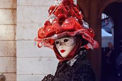 ΒΕΝΕΤΙΑ, ΙΤΑΛΙΑ - 27 ΦΕΒΡΟΥΑΡΊΟΥ 2014: Καρναβάλι της Βενετίας στοκ εικόνα