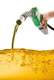 Βενζίνη αντλιών στοκ φωτογραφίες
