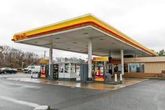 Βενζινάδικο της Shell Στοκ Φωτογραφίες