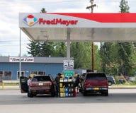 Βενζινάδικο του Fred Meyer Στοκ εικόνα με δικαίωμα ελεύθερης χρήσης