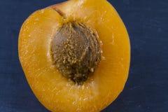 Βερίκοκο, γλυκό ήλιων, prunus, που διχοτομείται, μακροεντολή στοκ φωτογραφίες με δικαίωμα ελεύθερης χρήσης