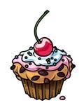 βερνίκωμα cupcake Στοκ Εικόνα