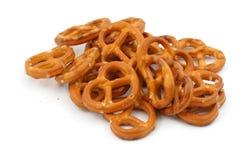 βερνικωμένα pretzels που αλατίζ&om Στοκ Φωτογραφία