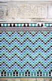 Βερνικωμένο κεραμίδι υπόβαθρο, παλάτι Alcazar στη Σεβίλλη, Ισπανία Στοκ Φωτογραφία