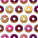 Βερνικωμένο donuts σχέδιο Στοκ φωτογραφίες με δικαίωμα ελεύθερης χρήσης