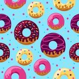 Βερνικωμένο donuts σχέδιο Στοκ φωτογραφία με δικαίωμα ελεύθερης χρήσης