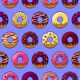 Βερνικωμένο donuts σχέδιο Στοκ Φωτογραφίες