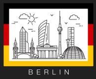 Βερολίνο Γερμανία Απεικόνιση των θεών πόλεων Στοκ εικόνες με δικαίωμα ελεύθερης χρήσης