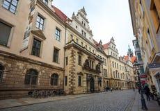 22 01 2018 Βερολίνο, Γερμανία - αρχαίο ιστορικό τέταρτο και stre Στοκ Εικόνα