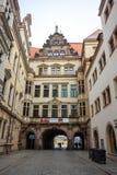 22 01 2018 Βερολίνο, Γερμανία - αρχαίο ιστορικό τέταρτο και stre Στοκ Εικόνες