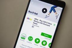 Βερολίνο, Γερμανία - 19 Νοεμβρίου 2017: ebay εφαρμογή στην οθόνη της σύγχρονης κινηματογράφησης σε πρώτο πλάνο smartphone Στοκ φωτογραφία με δικαίωμα ελεύθερης χρήσης