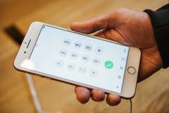 Βερολίνο, στις 2 Οκτωβρίου 2017: παρουσίαση του iPhone 8 και του iPhone 8 συν και πωλήσεις των νέων προϊόντων της Apple στον ανώτ Στοκ εικόνες με δικαίωμα ελεύθερης χρήσης