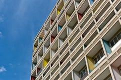 ΒΕΡΟΛΙΝΟ, ΓΕΡΜΑΝΙΑ - ΤΟΝ ΙΟΎΛΙΟ ΤΟΥ 2014: Το Corbusier Haus σχεδιάστηκε κοντά Στοκ φωτογραφία με δικαίωμα ελεύθερης χρήσης