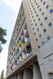 ΒΕΡΟΛΙΝΟ, ΓΕΡΜΑΝΙΑ - ΤΟΝ ΙΟΎΛΙΟ ΤΟΥ 2014: Το Corbusier Haus σχεδιάστηκε κοντά Στοκ Φωτογραφία