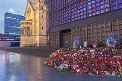 ΒΕΡΟΛΙΝΟ, ΓΕΡΜΑΝΙΑ, ΦΕΒΡΟΥΑΡΙΟΣ - 17, 2017: Η εκκλησία Kaiser Wilhelm Gedachtniskirche στο σούρουπο Στοκ Εικόνα