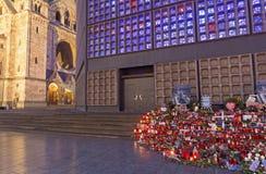 ΒΕΡΟΛΙΝΟ, ΓΕΡΜΑΝΙΑ, ΦΕΒΡΟΥΑΡΙΟΣ - 17, 2017: Η εκκλησία Kaiser Wilhelm Gedachtniskirche στο σούρουπο Στοκ φωτογραφία με δικαίωμα ελεύθερης χρήσης