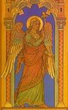 ΒΕΡΟΛΙΝΟ, ΓΕΡΜΑΝΙΑ, ΦΕΒΡΟΥΑΡΙΟΣ - 15, 2017: Η νωπογραφία του αρχαγγέλου Gabriel ως λεπτομέρεια Annunciation στο ST John η βαπτιστ Στοκ φωτογραφίες με δικαίωμα ελεύθερης χρήσης