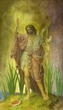 ΒΕΡΟΛΙΝΟ, ΓΕΡΜΑΝΙΑ, ΦΕΒΡΟΥΑΡΙΟΣ - 15, 2017: Η νωπογραφία του ST John ο βαπτιστικός στη βασιλική Rosenkranz Στοκ Φωτογραφίες