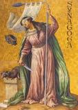 ΒΕΡΟΛΙΝΟ, ΓΕΡΜΑΝΙΑ, ΦΕΒΡΟΥΑΡΙΟΣ - 14, 2017: Η συμβολική νωπογραφία της συναγωγής σε Herz Ιησούς Στοκ Φωτογραφία
